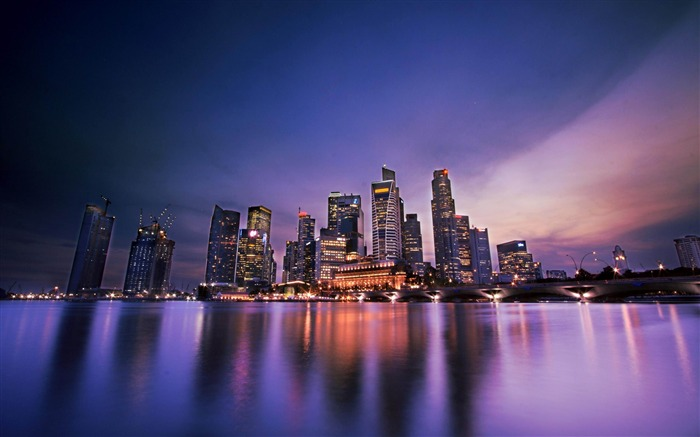 Singapore Evening-Cities architectural Wallpaper Views:11031