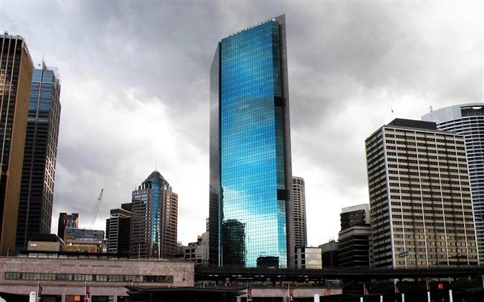 悉尼摩天大楼澳大利亚-建筑风景壁纸