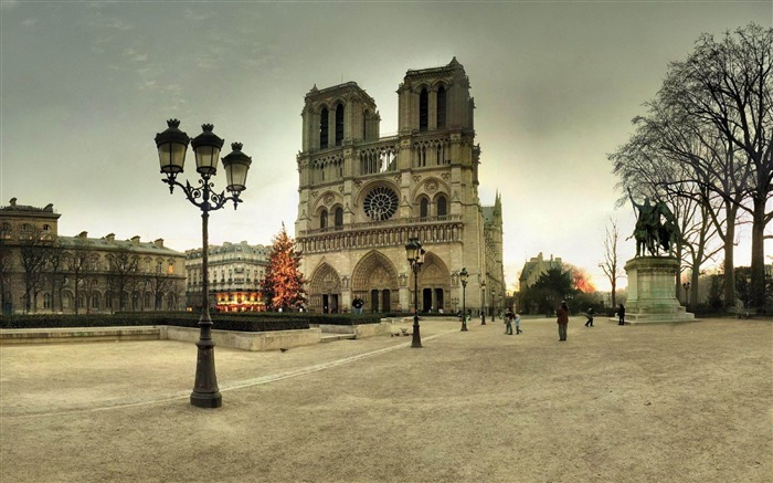 The Cathedral of Notre Dame Paris-Cities architectural Wallpaper Views:15286