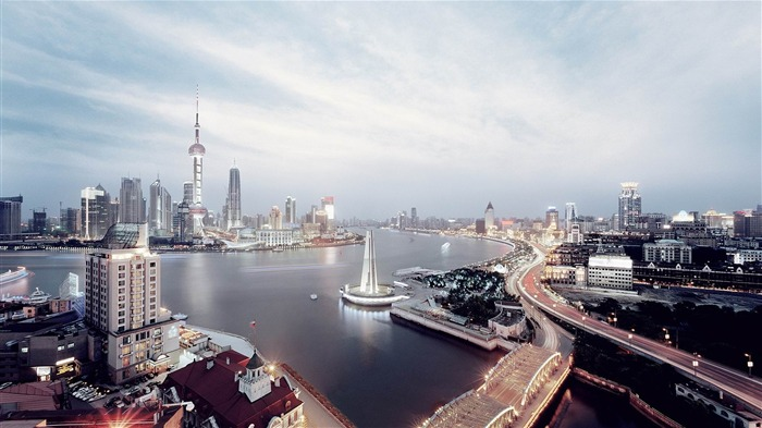shanghai skyline-Cities architectural Wallpaper Views:6283