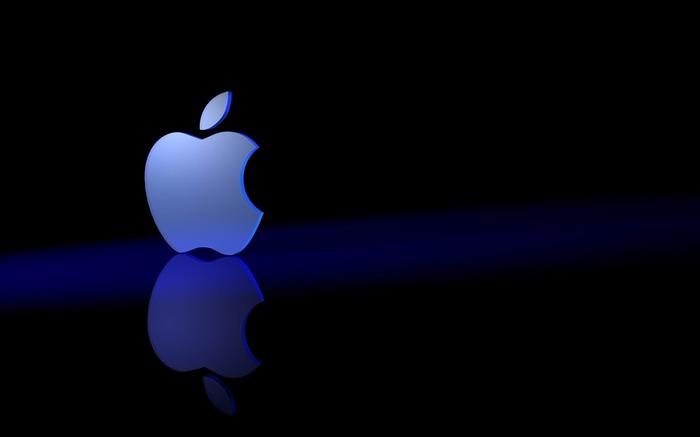 Apple Logo Blue-Brand advertising Wallpapers Views:17637