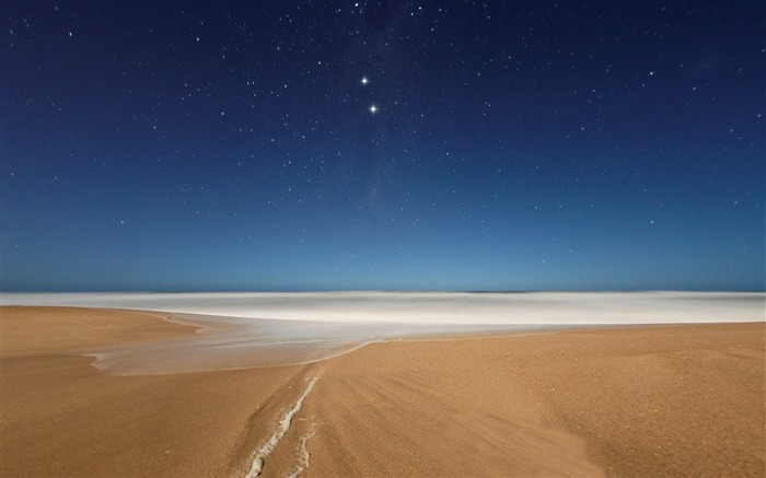 Beach and Stars-2012 landscape Selected Wallpaper Views:7263