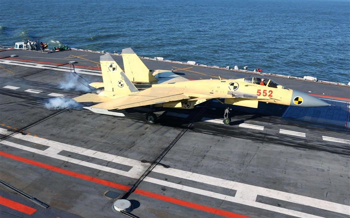 China Navy Aircraft Carrier First Landing And Takeoff J15-2012 military Featured wallpaper Views:13697