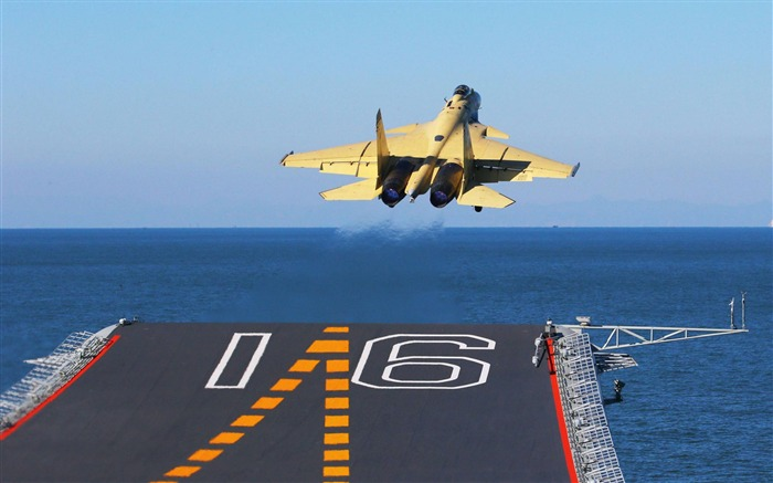 China Navy Aircraft Carrier Liaoning First Landing And Takeoff J15-2012 military Featured wallpaper Views:6629