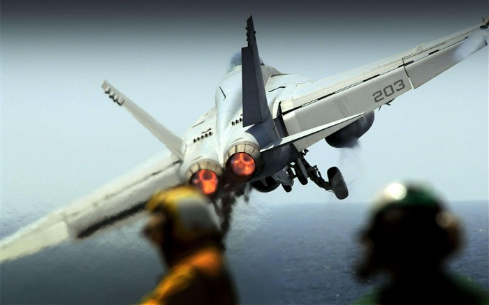F 18 Hornet Takeoff-2012 military Featured wallpaper Views:7766