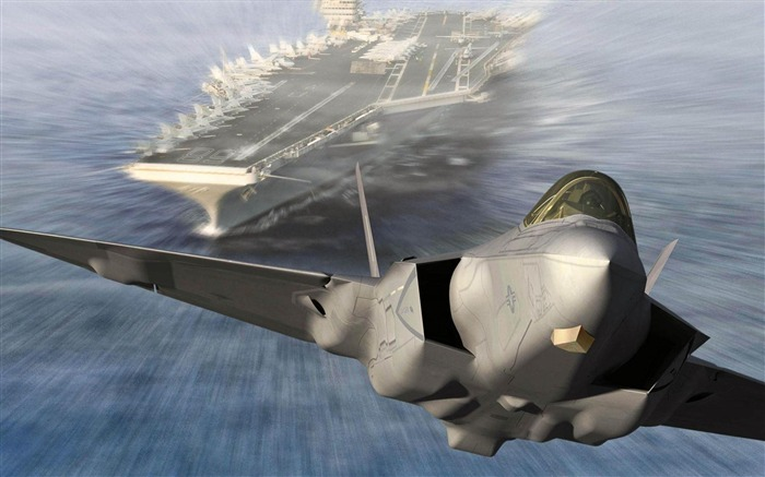 F 35 Aircraft Carrier-2012 military Featured wallpaper Views:10210