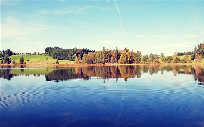 Germany Schwaig Lake-Small fresh landscape wallpaper Views:4057