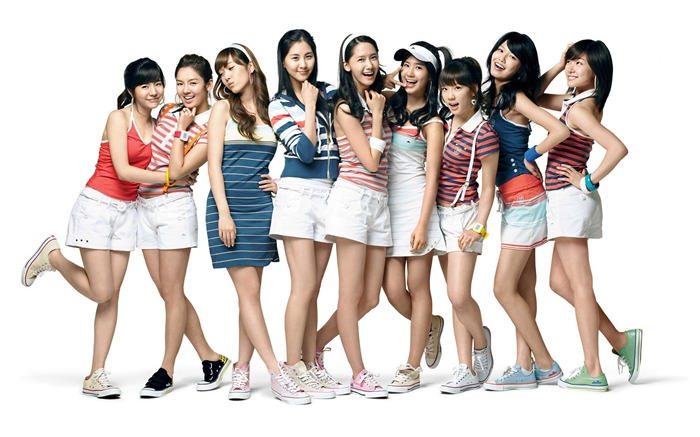 Girls Generation-beautiful girls idols combination HD photo wallpaper 03 Views:3876