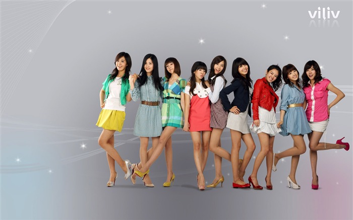 Girls Generation-beautiful girls idols combination HD photo wallpaper 04 Views:3922