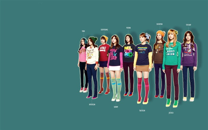 Girls Generation-beautiful girls idols combination HD photo wallpaper 06 Views:3501
