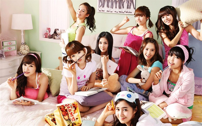 Girls Generation-beautiful girls idols combination HD photo wallpaper 07 Views:4857