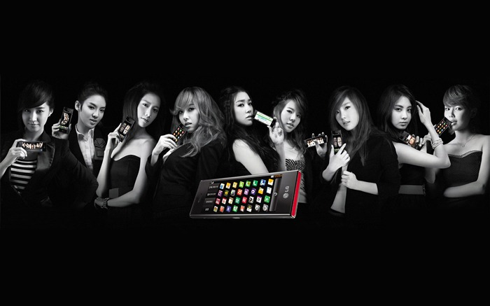 Girls Generation-beautiful girls idols combination HD photo wallpaper 09 Views:4315