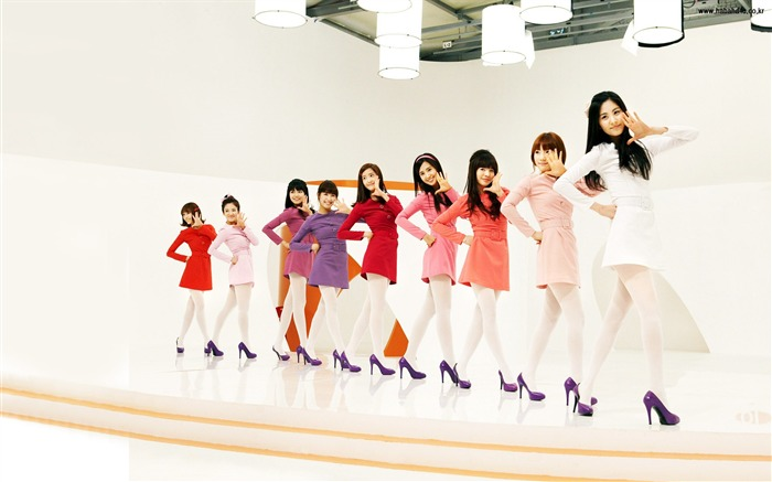 Girls Generation-beautiful girls idols combination HD photo wallpaper 15 Views:3508