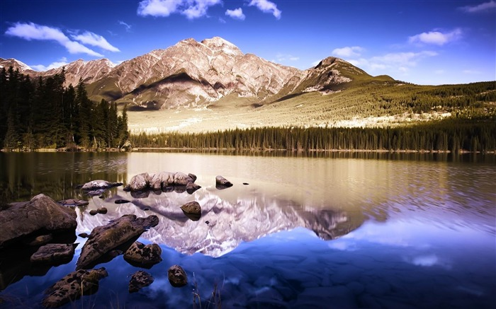 Reflective Mountains-2012 landscape Selected Wallpaper Views:3905