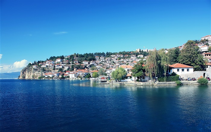 The Macedonian Ohrid the old town-Small fresh landscape wallpaper Views:21942