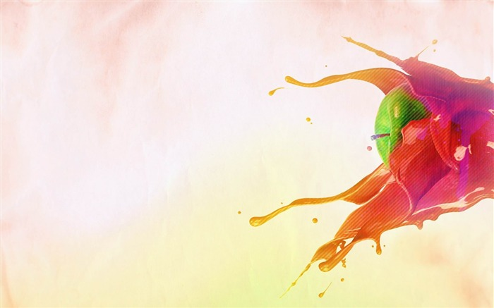 apple splash-Creative graphic design Wallpapers Views:55964
