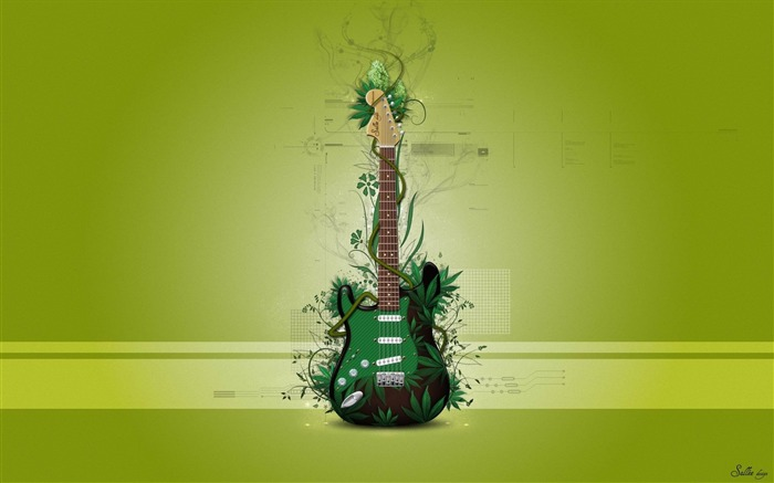 music guitar-Creative graphic design Wallpapers Views:17573