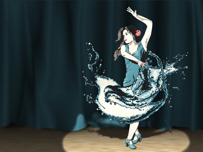 splash dance-Creative graphic design Wallpapers Views:9076