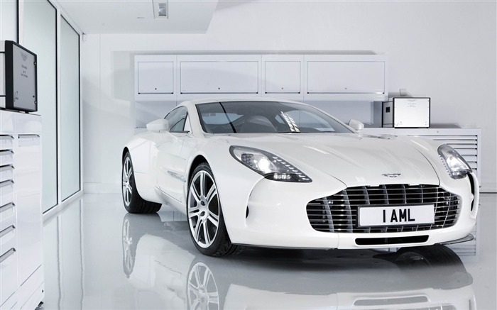 white aston martin one-2012 luxury car HD wallpaper Views:12867