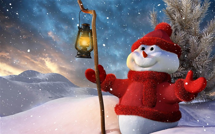 Aesthetic cute snowman Christmas HD wallpaper Views:31626