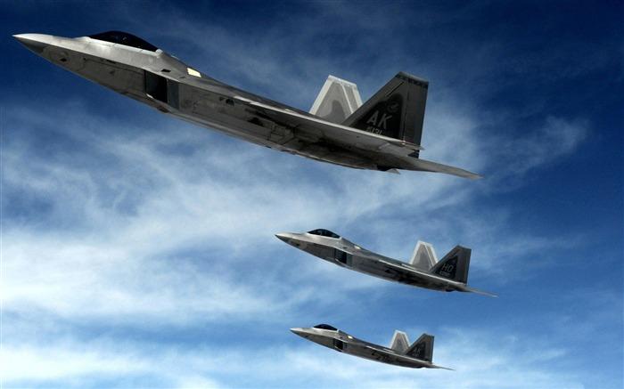 f 22猛禽隐形战斗机-航空飞机桌面壁纸 预览