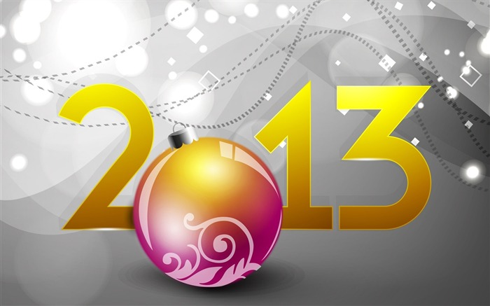 Happy New Year 2013 theme desktop Wallpaper 07 Views:6972