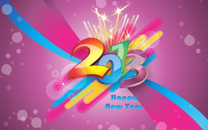 Happy New Year 2013 theme desktop Wallpaper 11 Views:5559