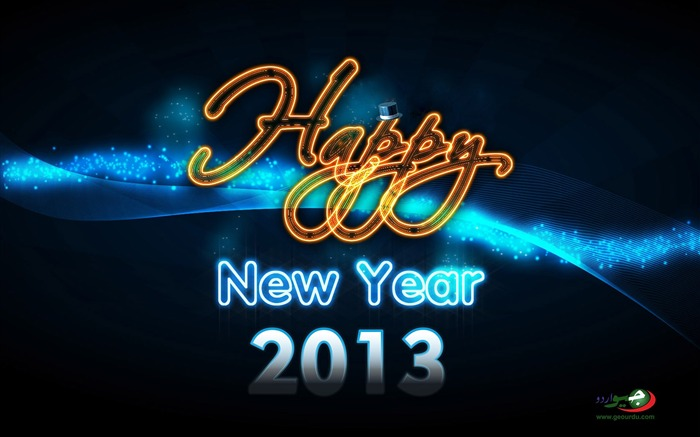 Happy New Year 2013 theme desktop Wallpaper 18 Views:4275