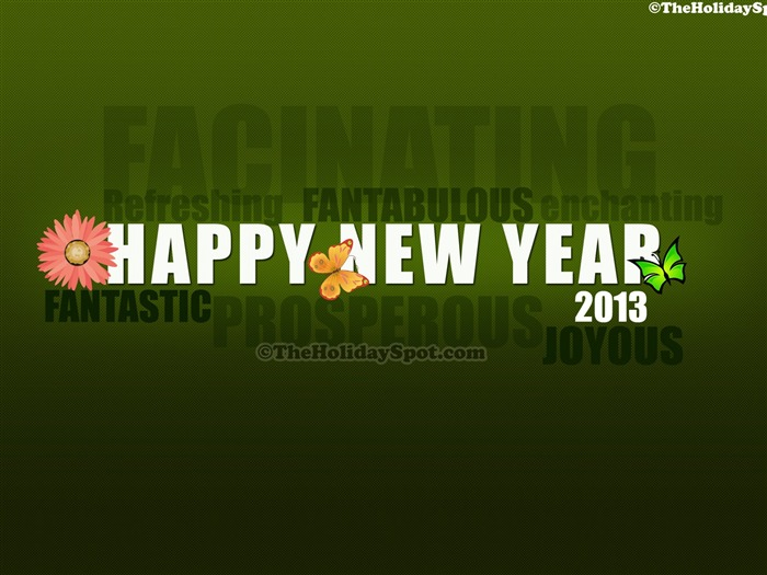 Happy New Year 2013 theme desktop Wallpaper 24 Views:5388