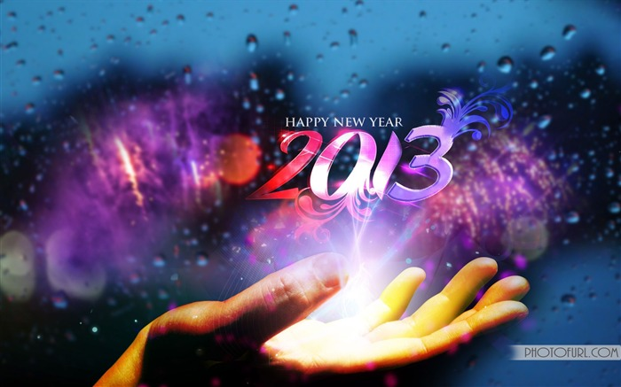 Happy New Year 2013 theme desktop Wallpaper 25 Views:9171
