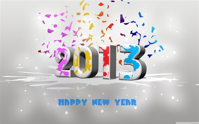Happy New Year 2013 theme desktop Wallpaper 27 Views:4984