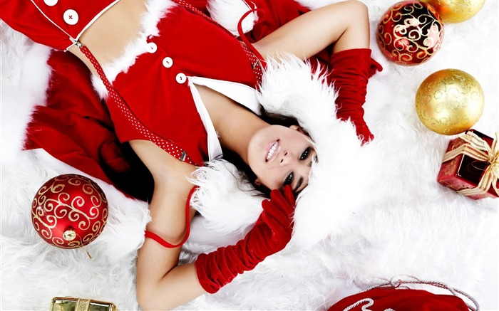 beautiful sexy Christmas theme photo wallpaper 04 Views:8978