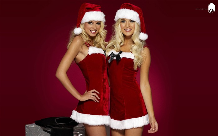beautiful sexy Christmas theme photo wallpaper 10 Views:9881