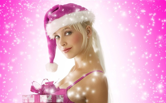 beautiful sexy Christmas theme photo wallpaper 12 Views:6167