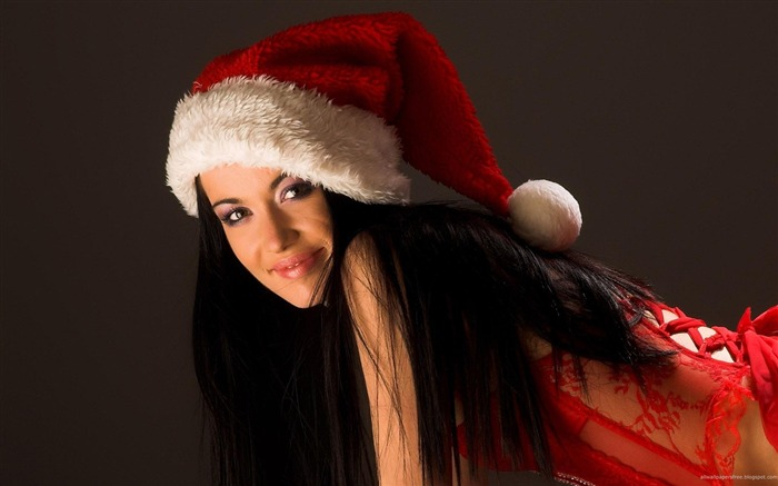 beautiful sexy Christmas theme photo wallpaper Views:10208