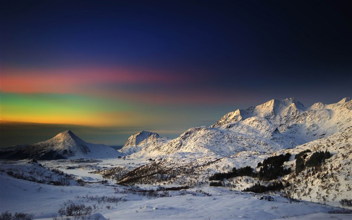 winter morning in the mountains-Winter landscape desktop Wallpapers Views:4640