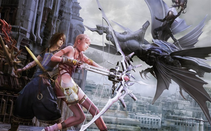 Final Fantasy XIII-2 Battle in Valhalla-2012 Game Featured HD Wallpaper Views:4171