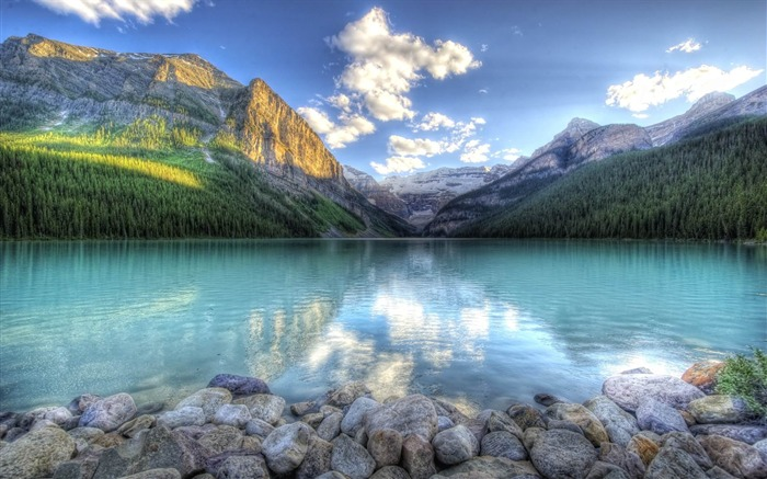 HDR mountainscape-Beautiful scenery wallpaper Views:4631