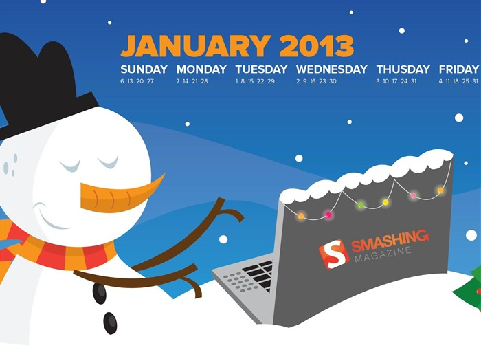 January 2013 calendar desktop themes wallpaper Views:10284