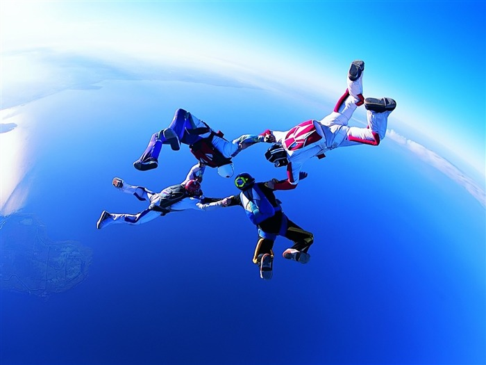 Skydiving-sport theme photography Wallpaper Views:3233