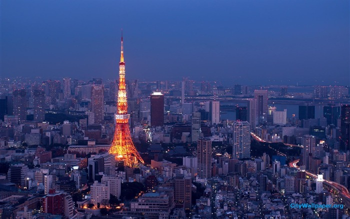 Tokyo Tower Japan cities landscape photography wallpaper 01 Views:5421