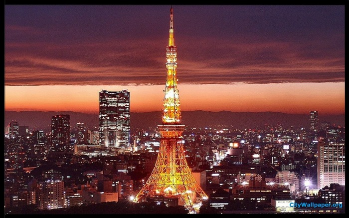 Tokyo Tower Japan cities landscape photography wallpaper 03 Views:7552