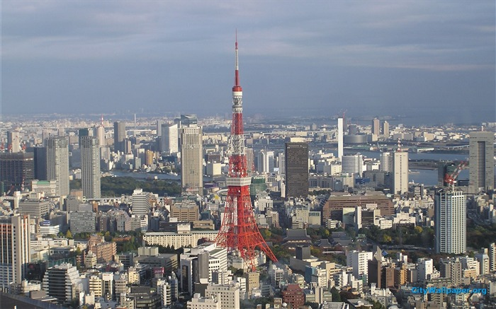 Tokyo Tower Japan cities landscape photography wallpaper 04 Views:4330
