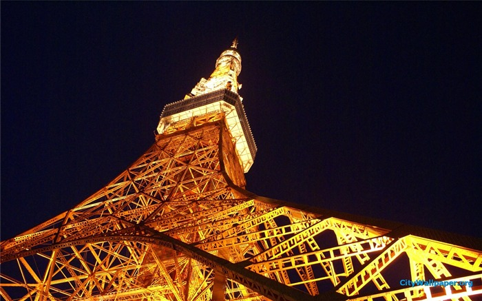 Tokyo Tower Japan cities landscape photography wallpaper 05 Views:3119