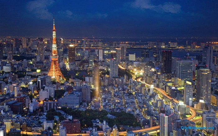 Tokyo Tower Japan cities landscape photography wallpaper 07 Views:12994