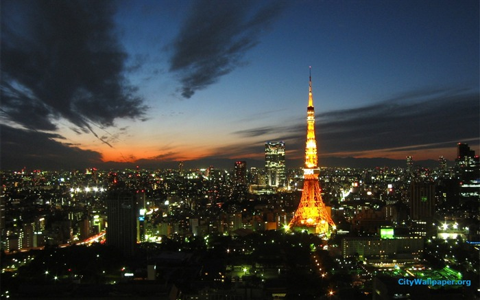 Tokyo Tower Japan cities landscape photography wallpaper 08 Views:12112