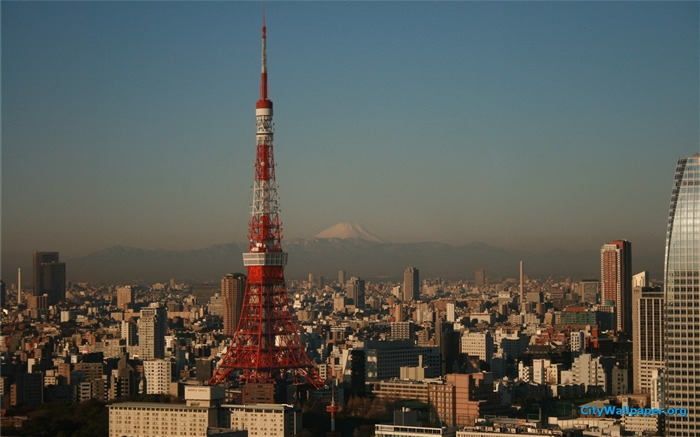 Tokyo Tower Japan cities landscape photography wallpaper 09 Views:3509
