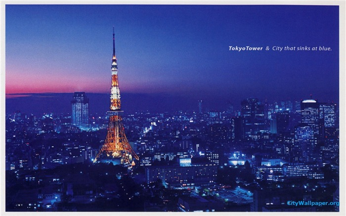 Tokyo Tower Japan cities landscape photography wallpaper Views:12360