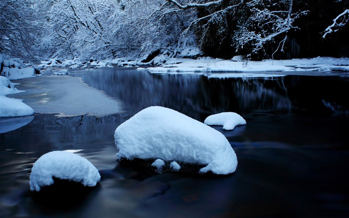 Romantic winter-winter natural landscape desktop wallpaper Views:11264