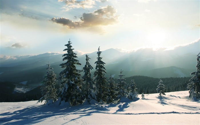 mountain winter-winter natural landscape wallpaper Views:5492